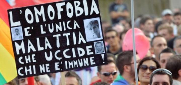 Manifestazione contro l'omofobia e per i diritti dei gay