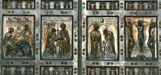 Rome, Italy, St. Peters Basilica, Filarete door